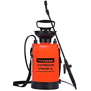 VIVOSUN 0.8 Gallon Lawn and Garden Pump Pressure Sprayer with Pressure Relief Valve, Adjustable Shoulder Strap
