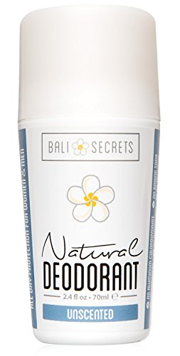 Bali Secrets Natural Deodorant  Organic & Vegan  For Women & Men  All Day Fresh  Strong & Reliable Protection  2.4 fl.oz/70ml [Unscented]