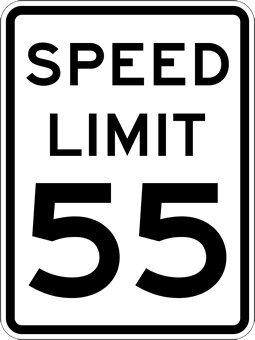 amazon com 55 mph speed limit signs 18x24 yard signs garden