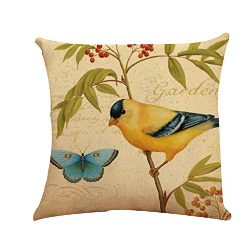 OrchidAmor Home Bed Decor Linen Square Decorative Throw Pillow Case Cushion Cover 2019 New Fashion ()
