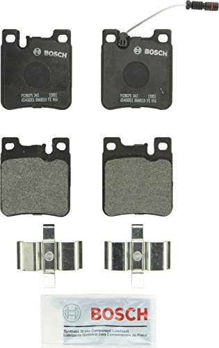 Bosch BP603 QuietCast Premium Semi-Metallic Disc Brake Pad Set For Select Chrysler; Mercedes-Benz (AMG C CL CLK E S SD SE SEC SEL SL) 32 43, 55, 280, 300, 320, 350, 400, 420, 430, 500, 550, 600; Rear