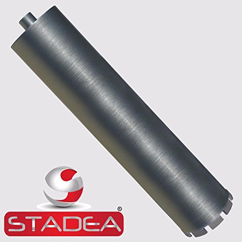 "Stadea CBW105H Diamond Concrete Hole Saw Core Drill Bit 4 Inch For Concrete Brick Block Stone Masonry, High Frequency Welded Wet 5/8""-11 Threaded 17"" High"