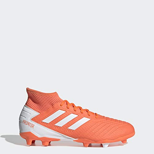 adidas Predator 19.3 Firm Ground Soccer Shoe, hi-res Coral/White/Glow Pink, 7 M US (7 Adidas Soccer Cleats)
