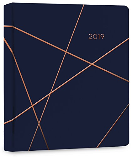 High Note® 2019 Geometric in Copper Hardcover Organizer 18-Month Weekly Engagement Planner - July 2018 to December 2019, 7 x 8.5; (CHH-0565)