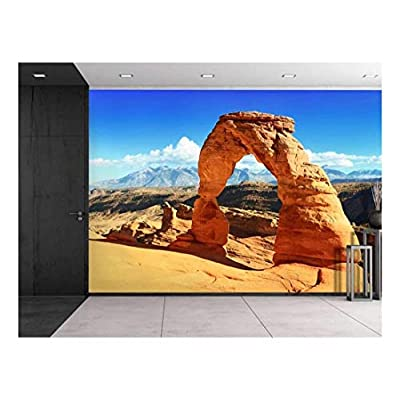 Large Wall Mural - Beautiful Scenery/Landscape Sunset at The Famous Delicate Arch, Utah, USA | Self-Adhesive Vinyl Wallpaper/Removable Modern Decorating Wall Art - 100