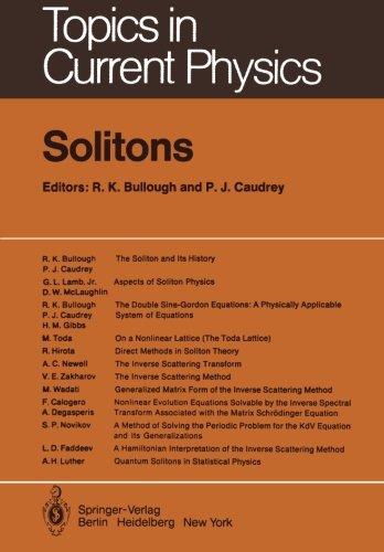 Solitons (Topics in Current Physics)