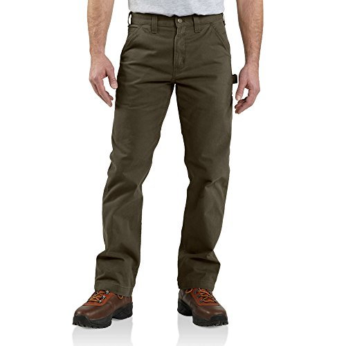 Carhartt Men's Relaxed-Fit Washed Twill Dungaree Pant, Dark Coffee 35 x 32