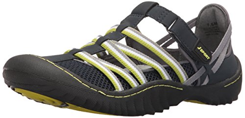 JSport by Jambu Women's Jetty Encore Flat, Navy/Kiwi, 6.5 M - For Sale Jetty