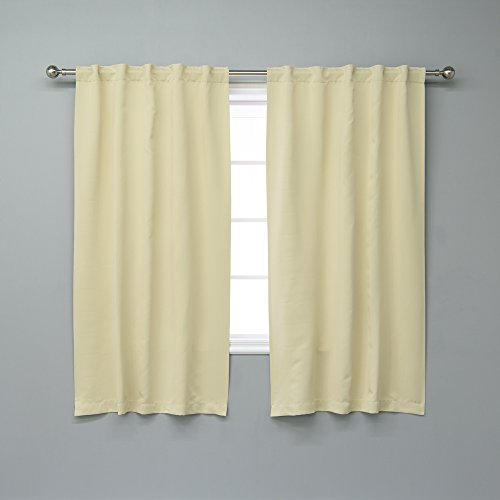 Best Home Fashion Thermal Insulated Blackout Curtains - Back Tab/ Rod Pocket - TEAL - 52'W x 84'L...