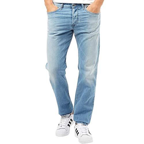 (Diesel Men's Buster Regular Slim Tapered L.32 Trousers Denim Wash 850v W34 x L32)