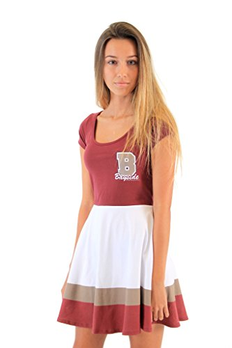 Saved By The Bell Bayside Tigers Cheerleader Costume Dress (Juniors' (Kelly Kapowski Halloween Costume)