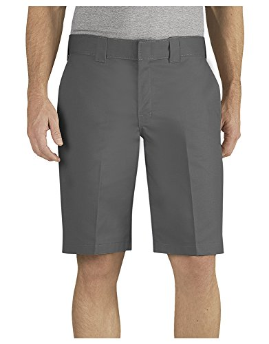 Dickies Men's Flex 11'' Relaxed Fit Wrinkle Resistant Work Shorts, Gravel Gray, 46