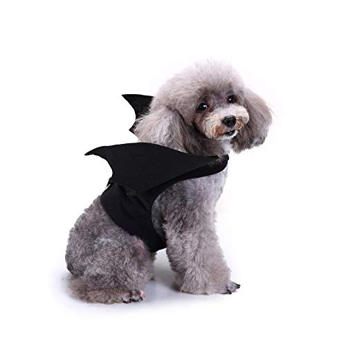 Pet Dog Cat Outfit Bat Vampire Halloween Fancy Dress Costume Wings by Laimeng_World for $<!--$3.92-->