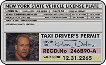 Fifth Permit Prop Element Card Dallas Driver Taxi ca Office The Products Amazon Korben Id
