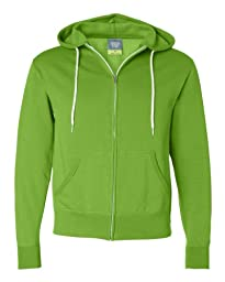 Independent Trading Co Unisex Full Zip Hooded Sweatshirt AFX90UNZ, Lime, XXX-Large