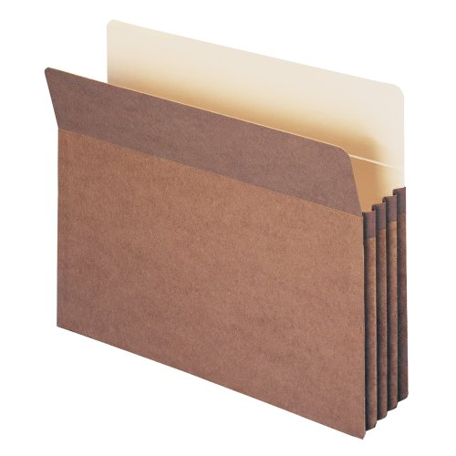 "Smead File Pocket, Straight-Cut Tab, 3-1/2"" Expansion, Letter Size, Redrope, 25 per Box (73224)"