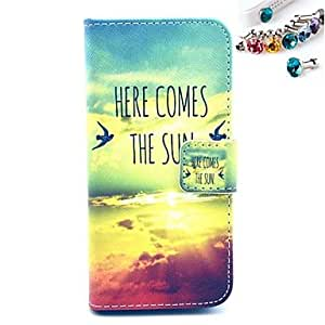 SHOUJIKE Sky Pattern PU Leather Full Body Case with Card Slot and Stand for iPhone 5/5S