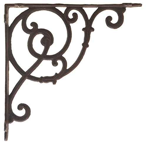 (Import Wholesales Decorative Cast Iron Wall Shelf Bracket Ornate Vine Rust 10