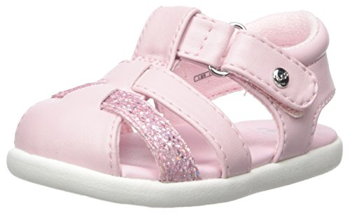 UGG Girls I Kolding Sparkles Fisherman Sandal, Seashell Pink, 2-3 M US Infant