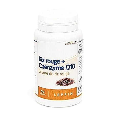 Leppin – Coenzima Q10 + arroz de levadura roja, 60 Cápsulas vegetales con concentrado de