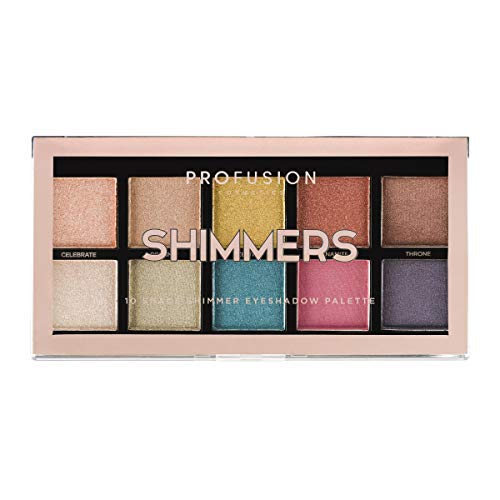 Palette Metallic (Profusion Cosmetics Mini Artistry 10 Shade Eyeshadow Palette, Shimmers)