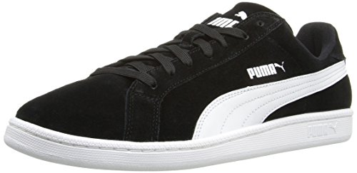 PUMA Men's Smash Suede Lthr Fashion Sneaker Black/White best place to buy buy cheap low shipping buy cheap 100% authentic uab3wCb