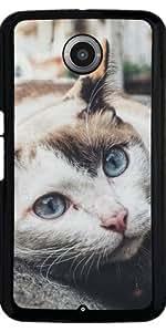 Funda para Motorola Nexus 6 - Estilo De La Vendimia Dulce Lindo Gato by WonderfulDreamPicture