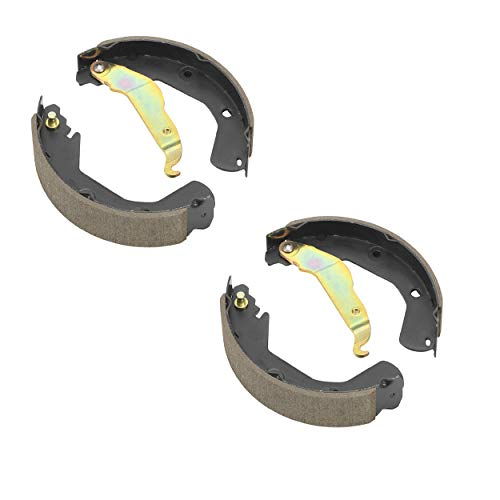 Detroit Axle - Rear Ceramic Brake Shoes w/Hardware Clips for 2009-2013 Honda Fit - [2015-2018 Honda Fit] - 2010-2014 Honda Insight - [2003-2007 Honda Civic Hybrid] - 2006-2013 Honda Civic 1.8L