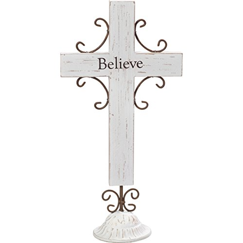Precious Moments Believe Rustic Farmhouse Distressed Wood & Metal 12