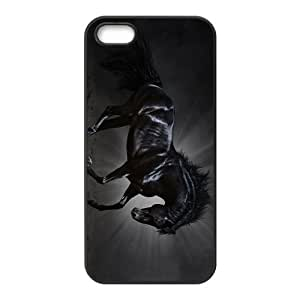 Black Horse Hight Quality Plastic Case for Iphone 5s