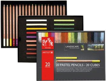 Caran D'ache Pastel Landscape Assortment 20 Pencils+20 Cubes [Toy] (7880.420)