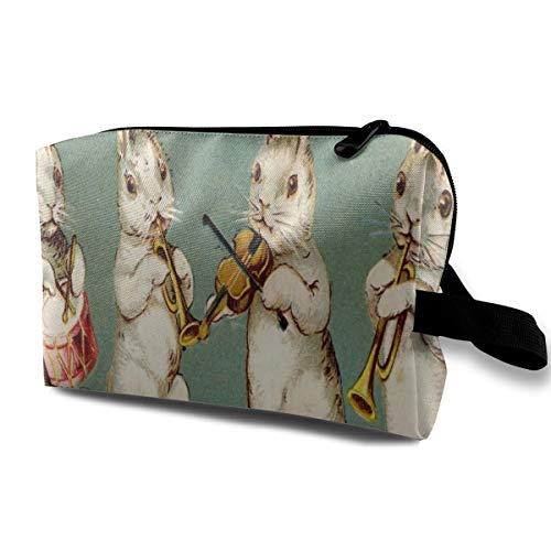 Love beautiful Makeup Bag Easter Musical Bunnies Handy Travel Multifunction Beauty Bags Amazing Storage for Girls