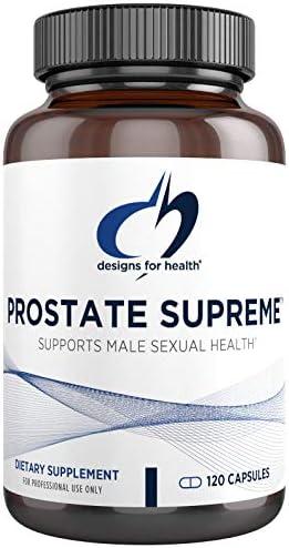 Designs for Health Saw Palmetto Prostate Supplement for Men – Prostate Supreme with Saw Palmetto, DIM, Vitamins, Nettle, Zinc + Chrysin – Non-GMO, Soy Free (120 Capsules)
