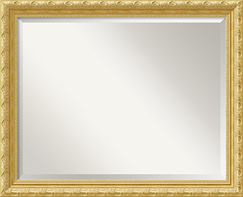 Wall Mirror Large, Versailles Gold Wood: Outer Size 32 x (Gold Large Wood)