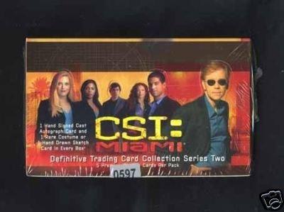CSI Miami Trading Card Sealed Box Collection Series 2 David Caruso