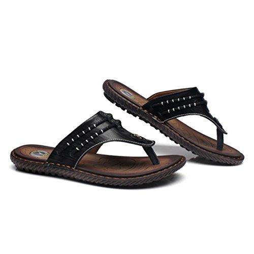 Zapatillas de Negro Bajas Poliuretano Hombre Qianliuk dE7q6d