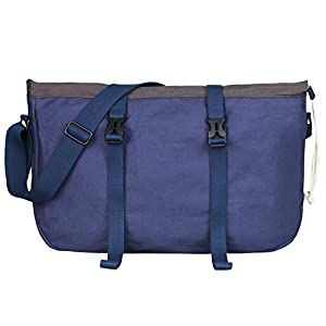 "Loiee Water Resistant Canvas Messenger Shoulder Bag MenWomen,Vintage Business Laptop Computer Bag Fit Laptops 13"", 14"" up to 15.6 inches"