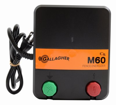 Gallagher North America G383414 Electric Fence Charger, M60, 0.6 Joules, 110-Volt