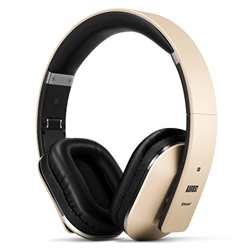August EP650 Wireless Bluetooth Headphones - Gold - Android/iOS App,...