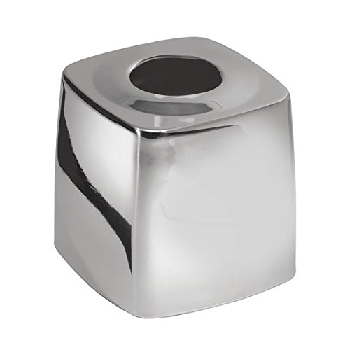 Mdesign Facial Tissue Box Cover Holder For Bathroom Vanity Countertops Polished Stainless