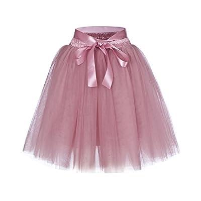 Women's High Waist Princess Tulle Skirt Adult Dance Petticoat A-line Wedding Party Tutu