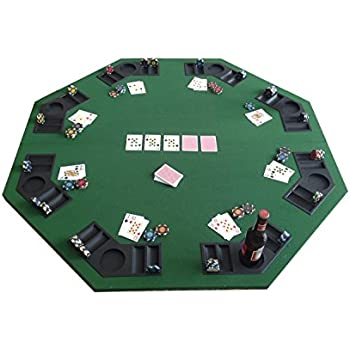Tenive Deluxe 8 Player Position Foldable Poker Tabletop Blackjack Card Game  Table Top Bulid