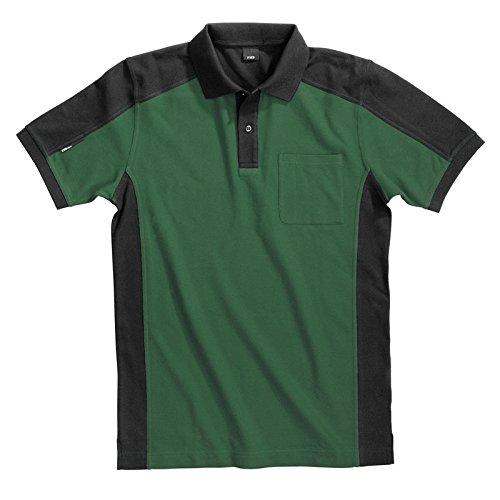 FHB Polo-Shirt Konrad, größe L, grün / schwarz, 91490-2520-L
