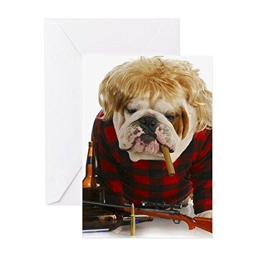 CafePress - Redneck Dog - English Bulldog Rednec - Greeting Card, Note Card, Birthday Card, Blank Inside Matte (Halloween Hangover Funny)