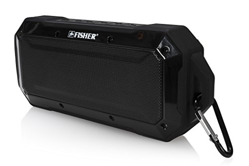 less Speaker, Bluetooth Enabled, Shockproof and Dustproof Ultra-Portable Design, Built-in Microphone (Fisher Speaker)