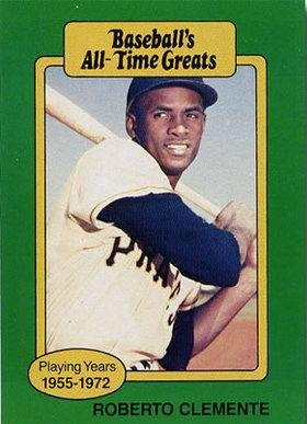 1987 Hygrade All Time Greats Roberto Clemente Baseball Card