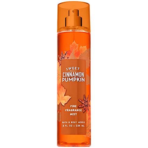 Bath and Body Works SWEET CINNAMON PUMPKIN Fine Fragrance Mist 8 Fluid - Pumpkin Body Splash Cinnamon Sweet