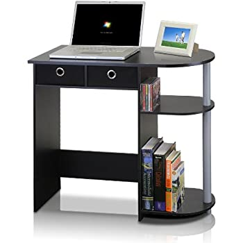 Amazon Com Small Computer Desk Cart On Wheels Black