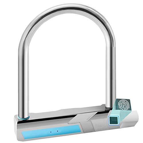 YOUANDMI 2200Mah Smart Fingerprint Lock,Waterproof Heavy Duty Alloy Steel Safe Anti-Theft U Lock with USB Rechargeable Battery for Bike&Motorcycle&Bicycle&Door,Short by YOUANDMI (Image #7)