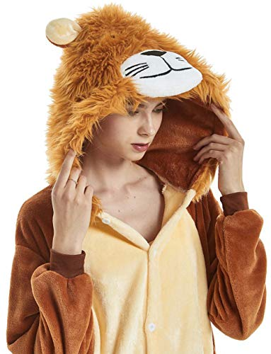LONGTEN Adult Animal Pajamas Halloween Christmas Cosplay Costume Onesies Homewear Nightclothes Sleepwear Unisex (No Shoes) (XL (Height:178-195cm/69.8-76.8